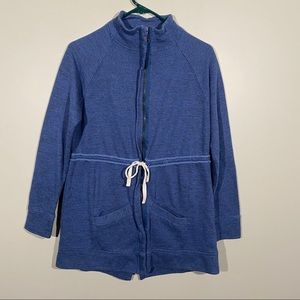 Dolan Zip Up Sweater With Drawstring Waist